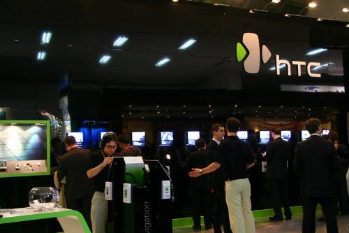 智能手机厂商HTC展台