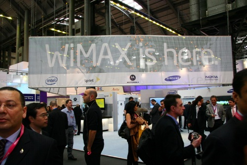 """WiMAX在这里""-三星、英特尔、MOTO、诺基亚联合展台"