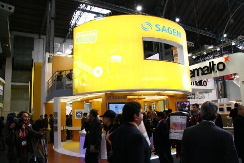法国SAGEM公司展台