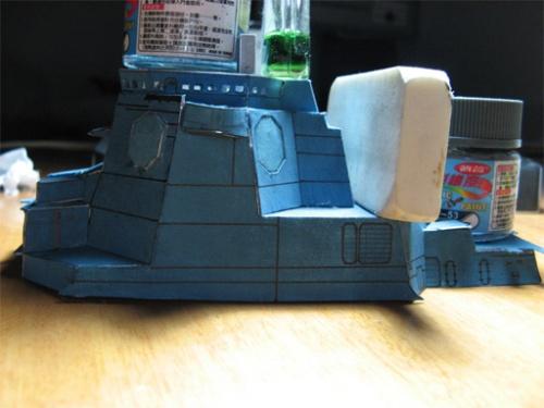 """纸模型""""金刚级日本军舰""""制作过程(图例)"""