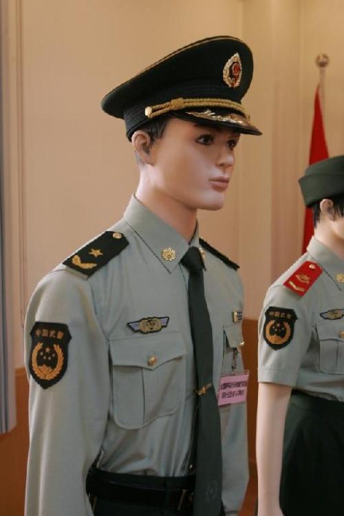 07式军官礼服和武警军服的区别图片