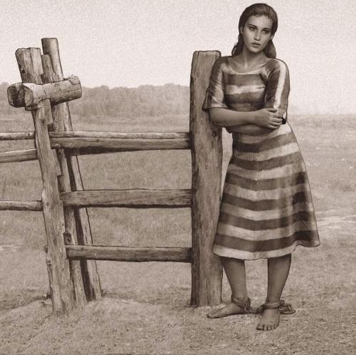 访过一个可怜的女犯,她在提到脚镣这个话题时,表现得痛不欲生.图片