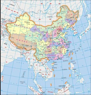 未来1万年中国地图
